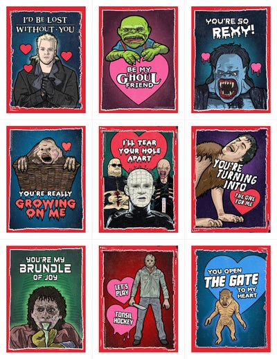 Image of 80's Horror Valentine's Day Card Pack (2017)
