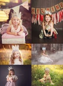 Image of White Cream Vintage Style Crown - Unique Photography Prop - Child to Adult