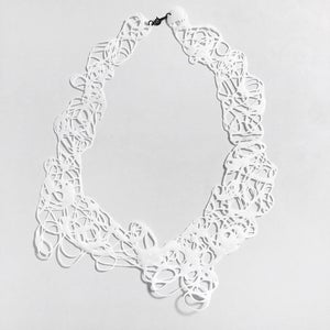 Image of Doodle Necklace - white I