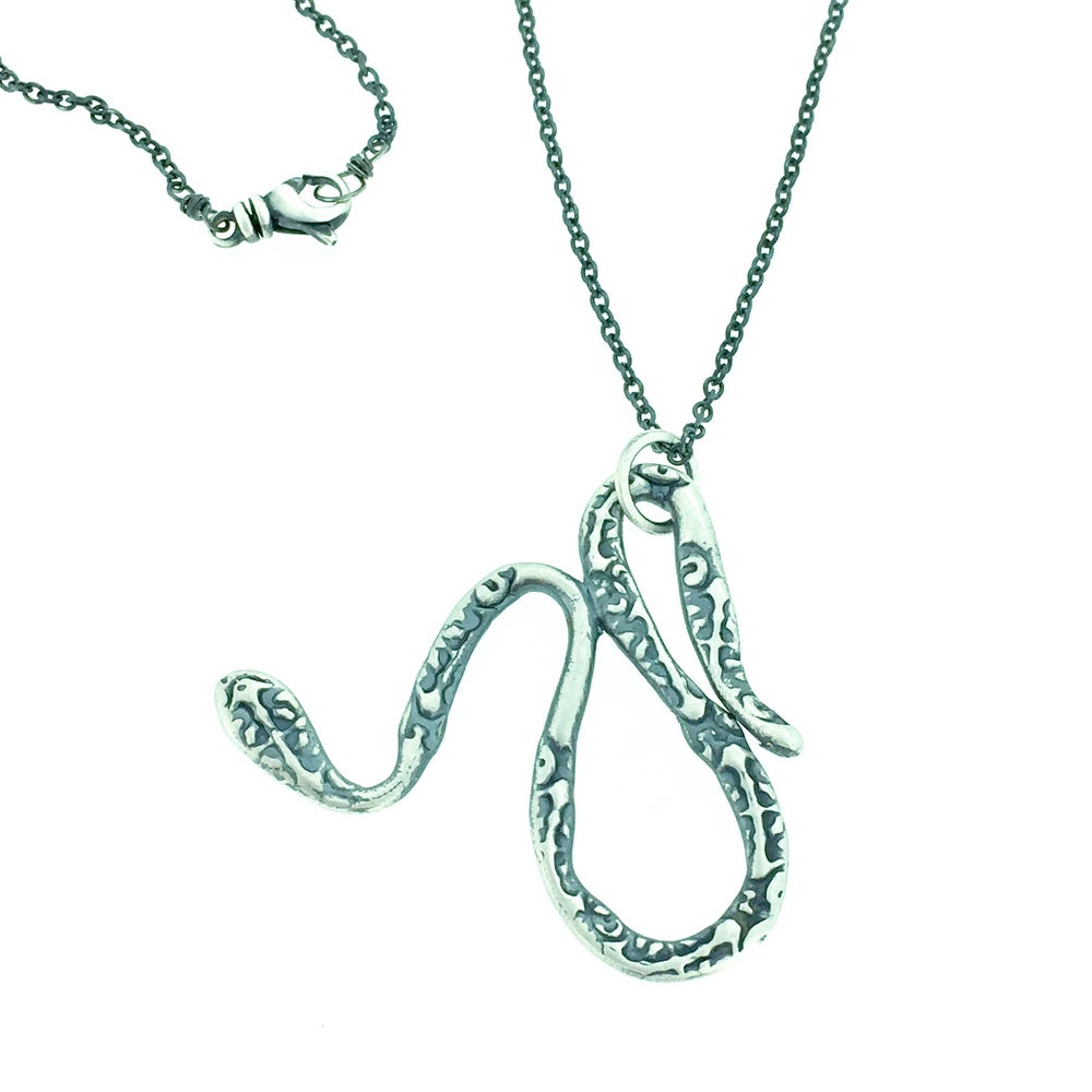Image of serpent talisman necklace