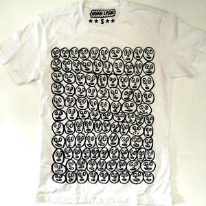 Image of Faces t-shirt (white tee)