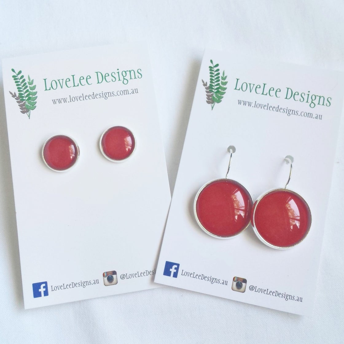 Image of Earrings - Red