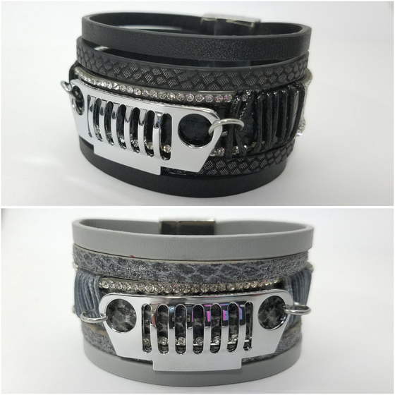 Image of Leather Crystal JEEP Bracelets