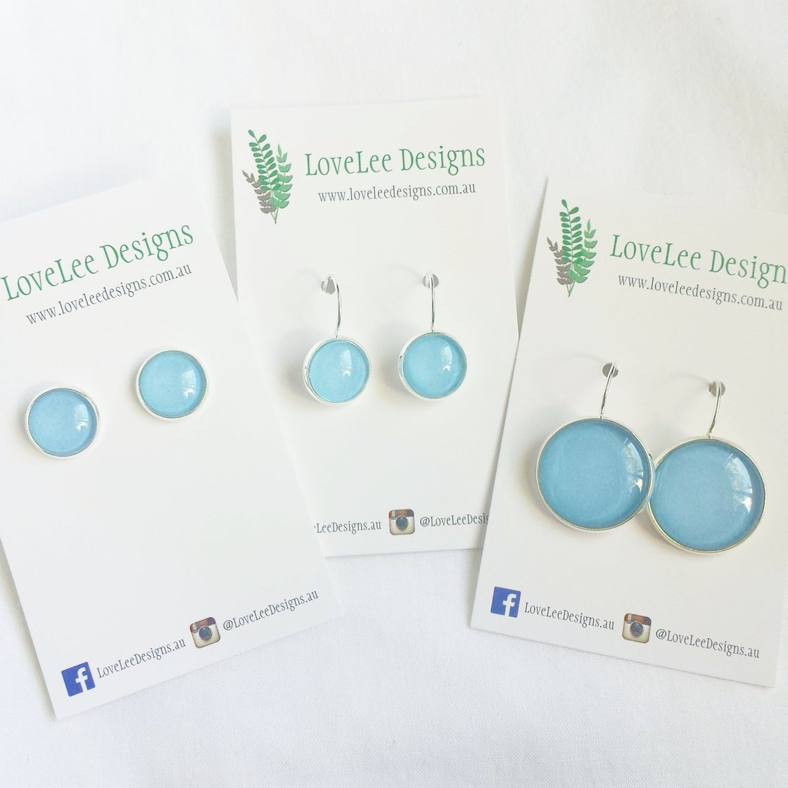 Image of Earrings - Sky blue