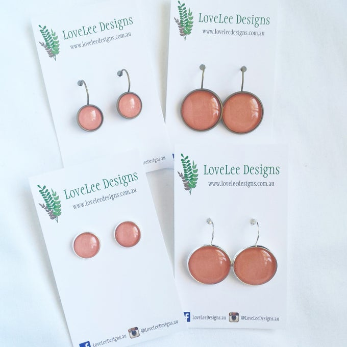 Image of Earrings - peach