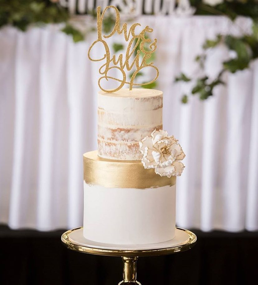 Image of Double Name Cake Topper