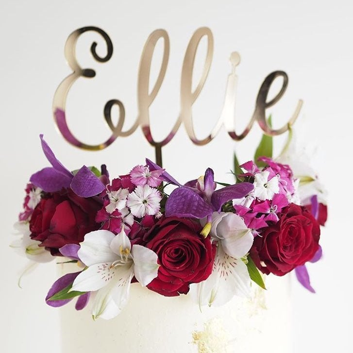 Image of Custom Name Cake Topper