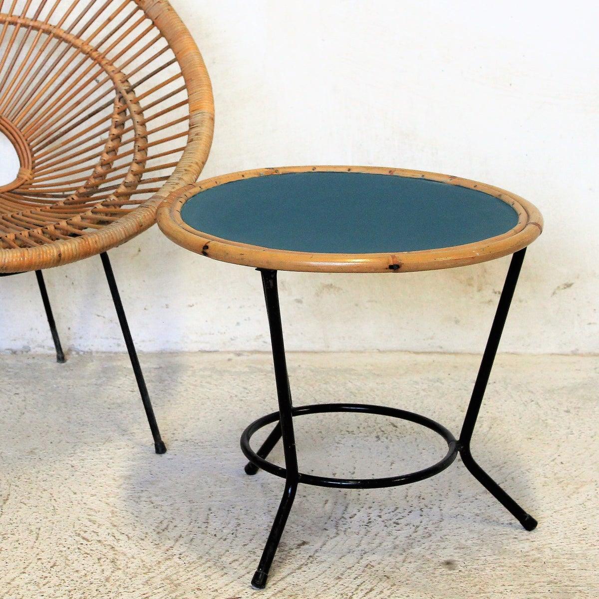 Table Basse Vintage Rotin M Tal Fibresendeco Vannerie