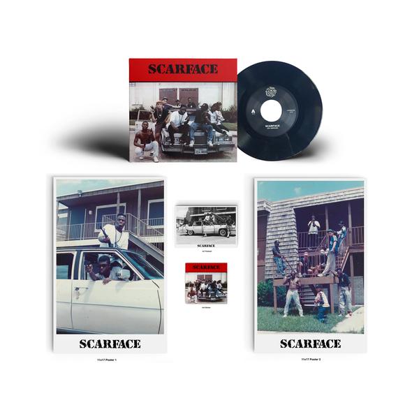 "Image of Scarface (Dj Akshen) - SCARFACE 7"" OG 1989 Version (Black Vinyl) w/ 2 Posters, Sticker & Postcard!"