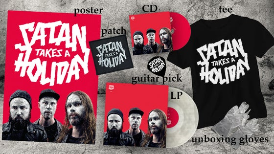 Image of The Super Awesome Satan Fun Pack: Satan Takes A Holiday - Aliens (Full package CD and LP)