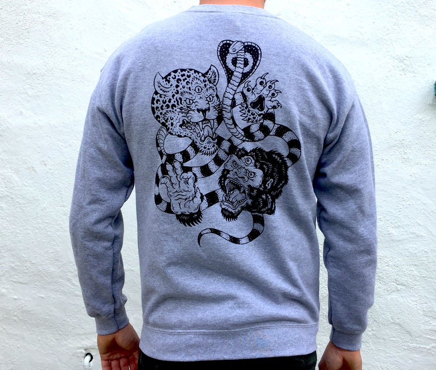 Image of Battle Royal crew neck sweatshirt grey