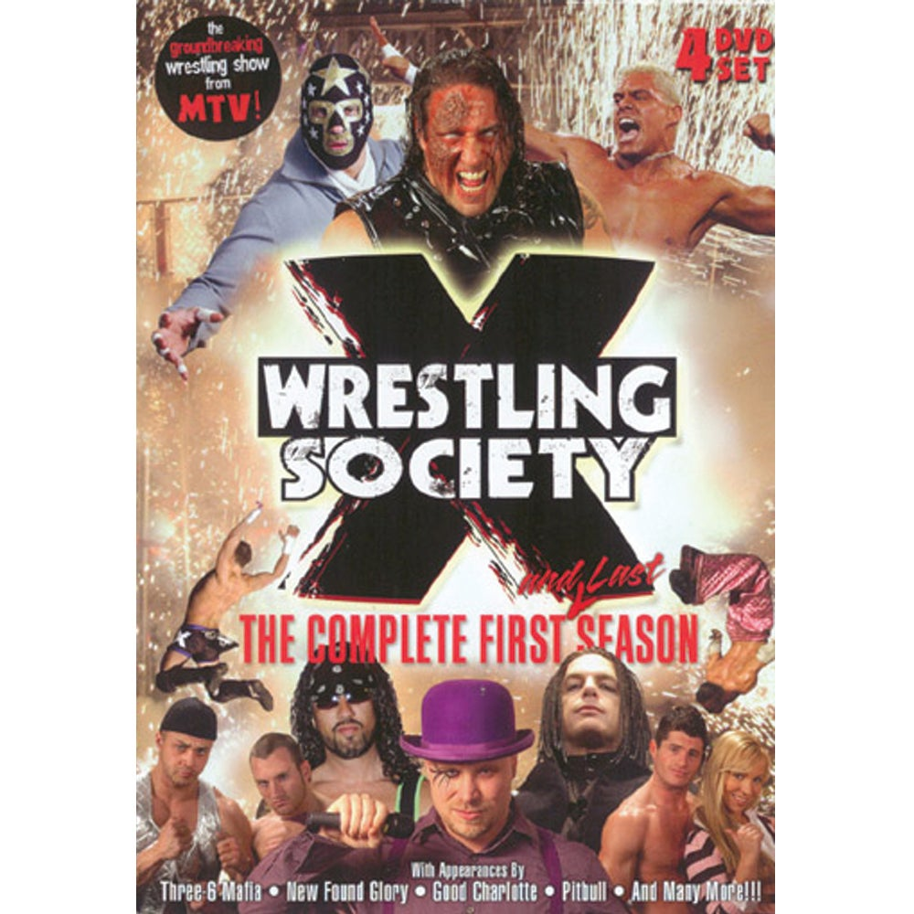 Image of Wrestling Society X: The Compete First (And Last) Season 4 Disc DVD Set WITH BONUS