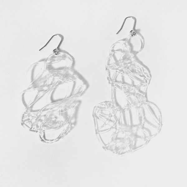 Image of Doodle Earring - transparent I
