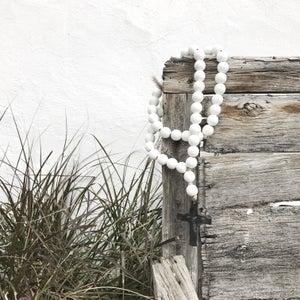 Image of Original Love Beads - White Cross-1