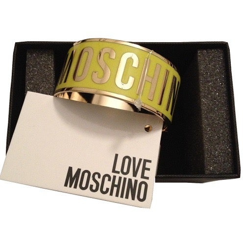 Image of LOVE MOSCHINO AUTHENTIC LOGO BRACELET - YELLOW NEW IN BOX