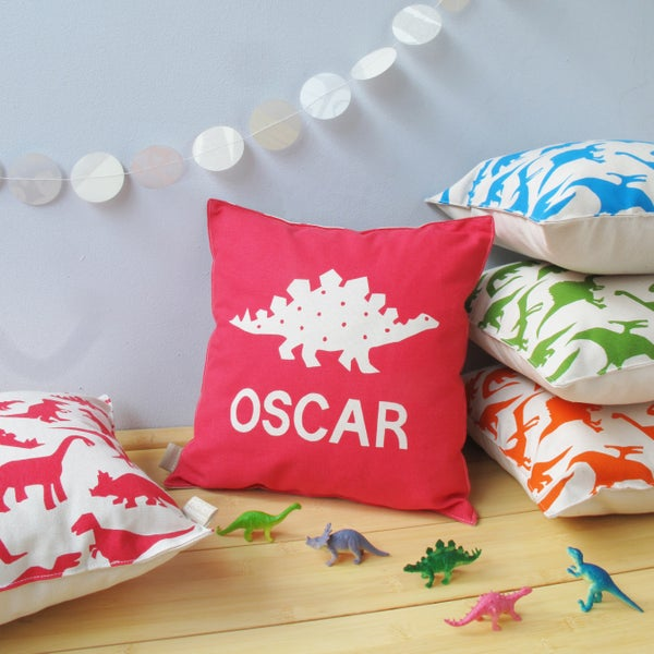 Image of Personalised Dinosaur Cushion