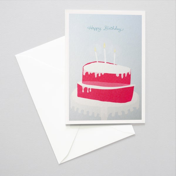 Image of Birthday Cake card - Illustration cake card / Eat cake