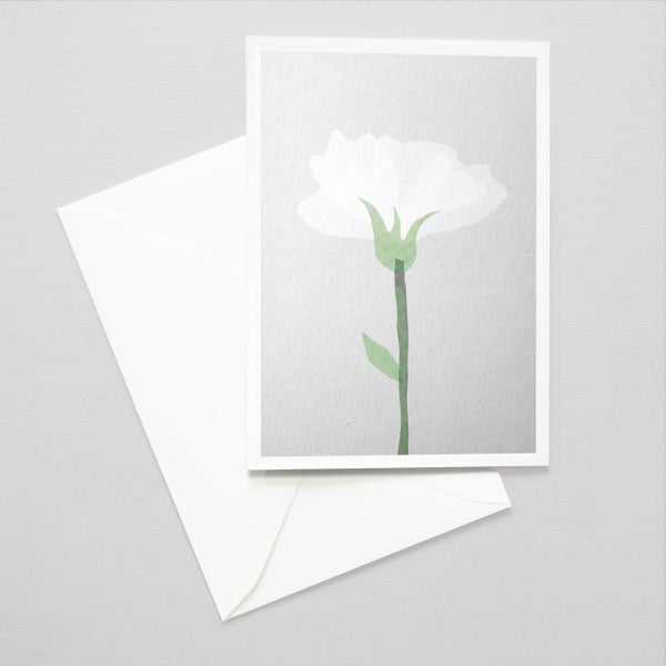 Image of SImple FlowerCard - Thinking of you card / Sympathy card / Trauerkarte