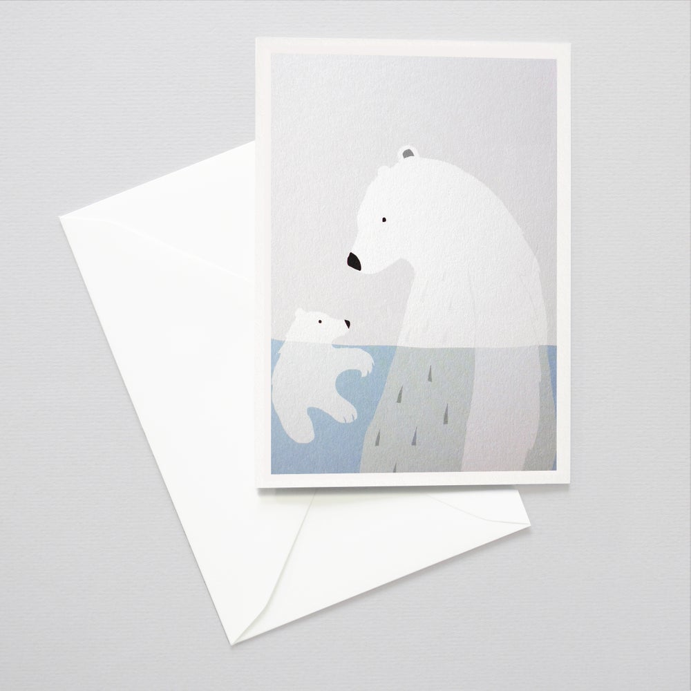 Image of Bears card - Bears in a Pool / Father's day card / Mother's day card