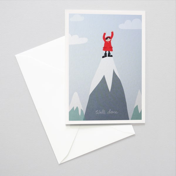 Image of Mountain Peak / Congratulations / Well done you card