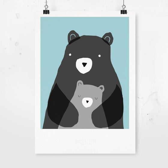 Image of ART PRINT - BEARS / Affordable Art Prints / Archival Quality / Kids' room decoration