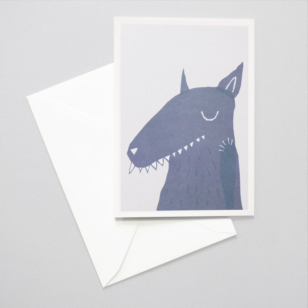 Image of Big Bad Wolf Art card - Children's Art card / Little red riding hood