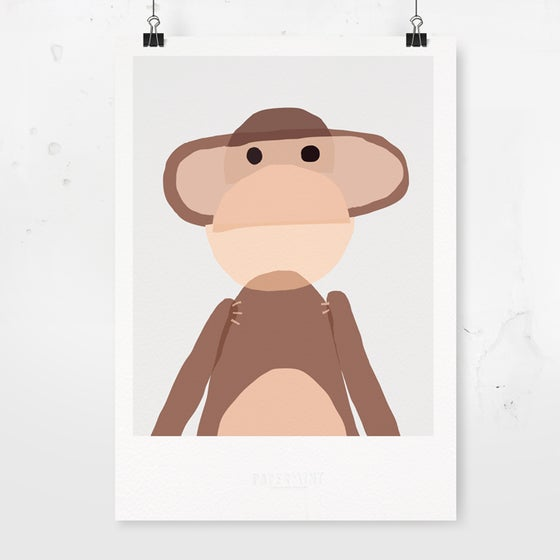 Image of Art Print - Monkey / Affordable Art Prints / Archival Quality / Kids' room decoration