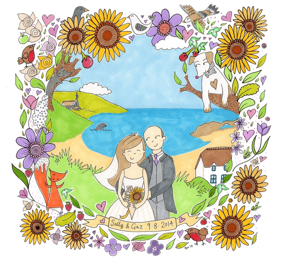 Image of Personalised Illustration 18cm x18cm