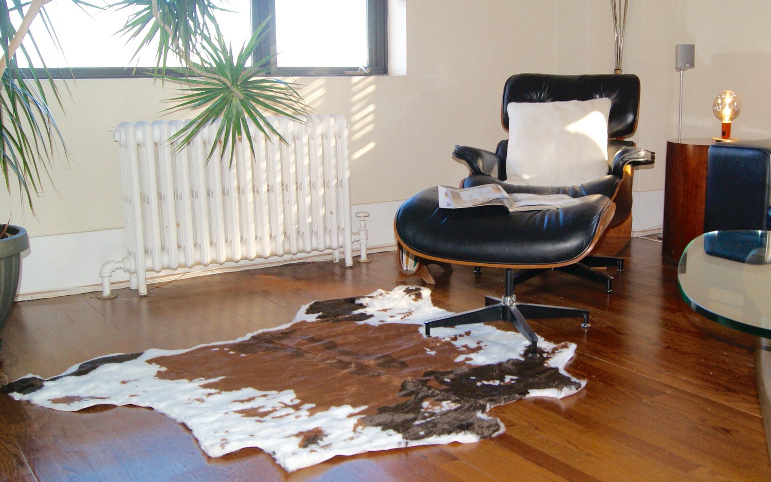 Image of El Paso Brownsville Choco Wht Faux Cowhide