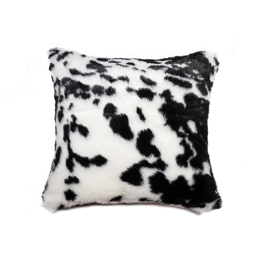 Image of  Jolly Black White Faux Cowhide Pillow