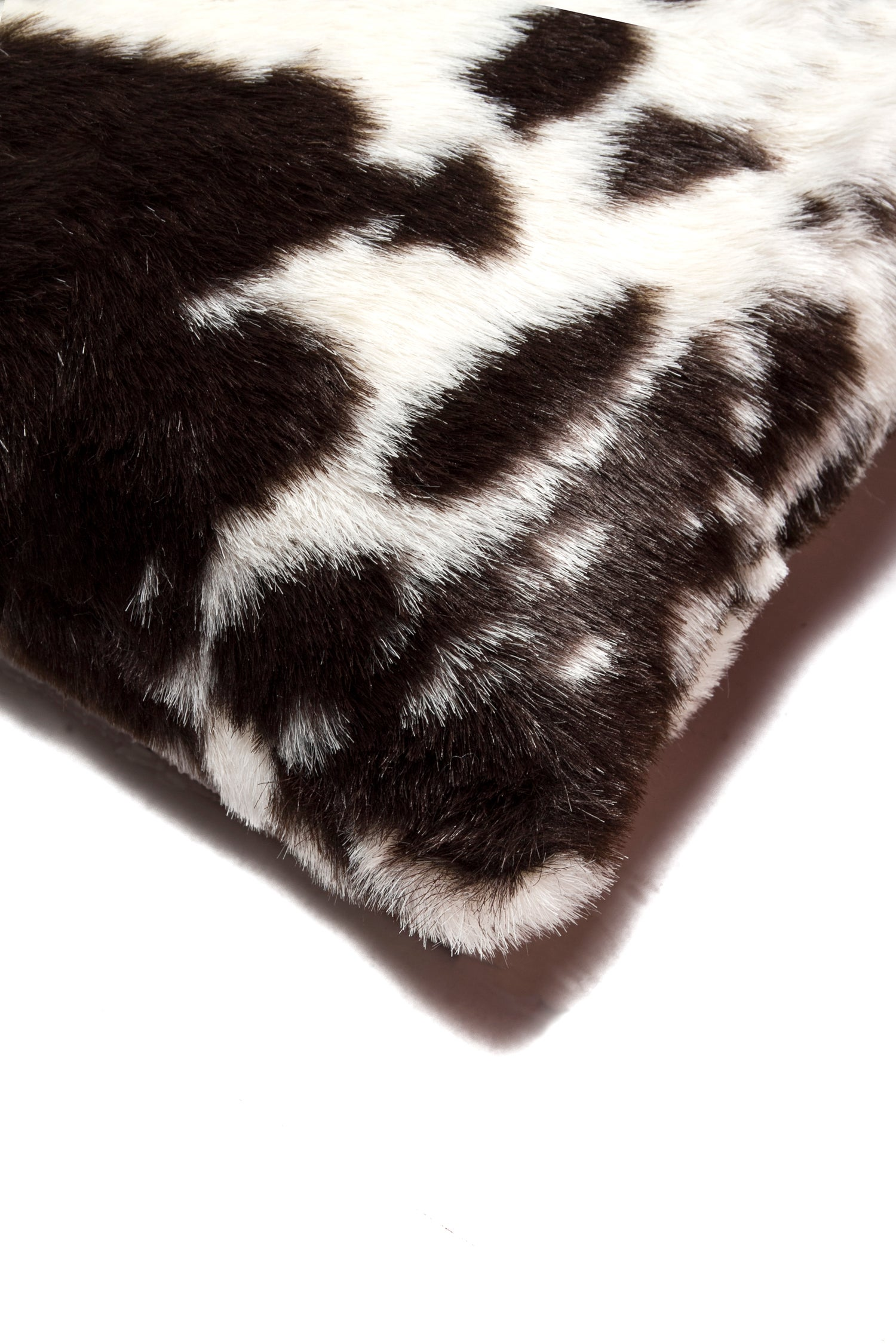 Image of  Jolly Brown White Faux Cowhide Pillow