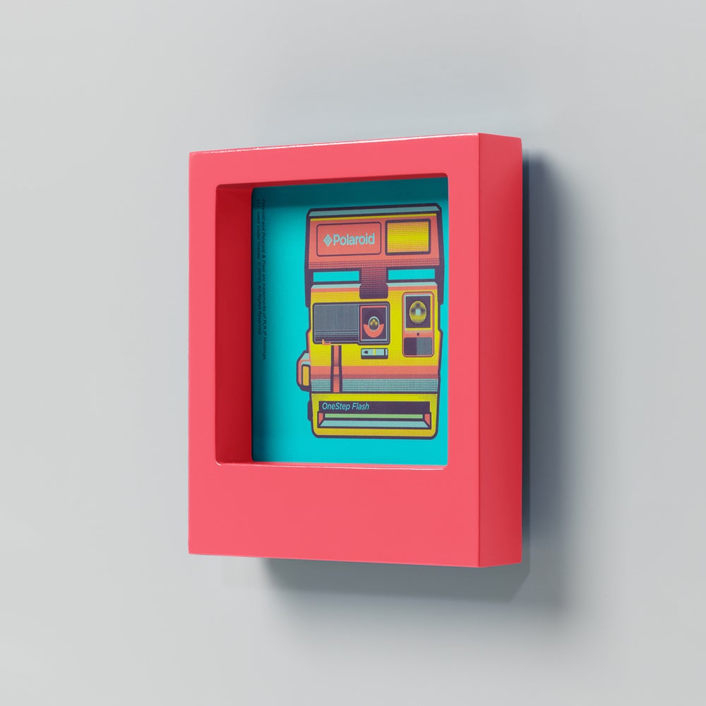 Image of Pink Polaroid 4x4 Photo Frame