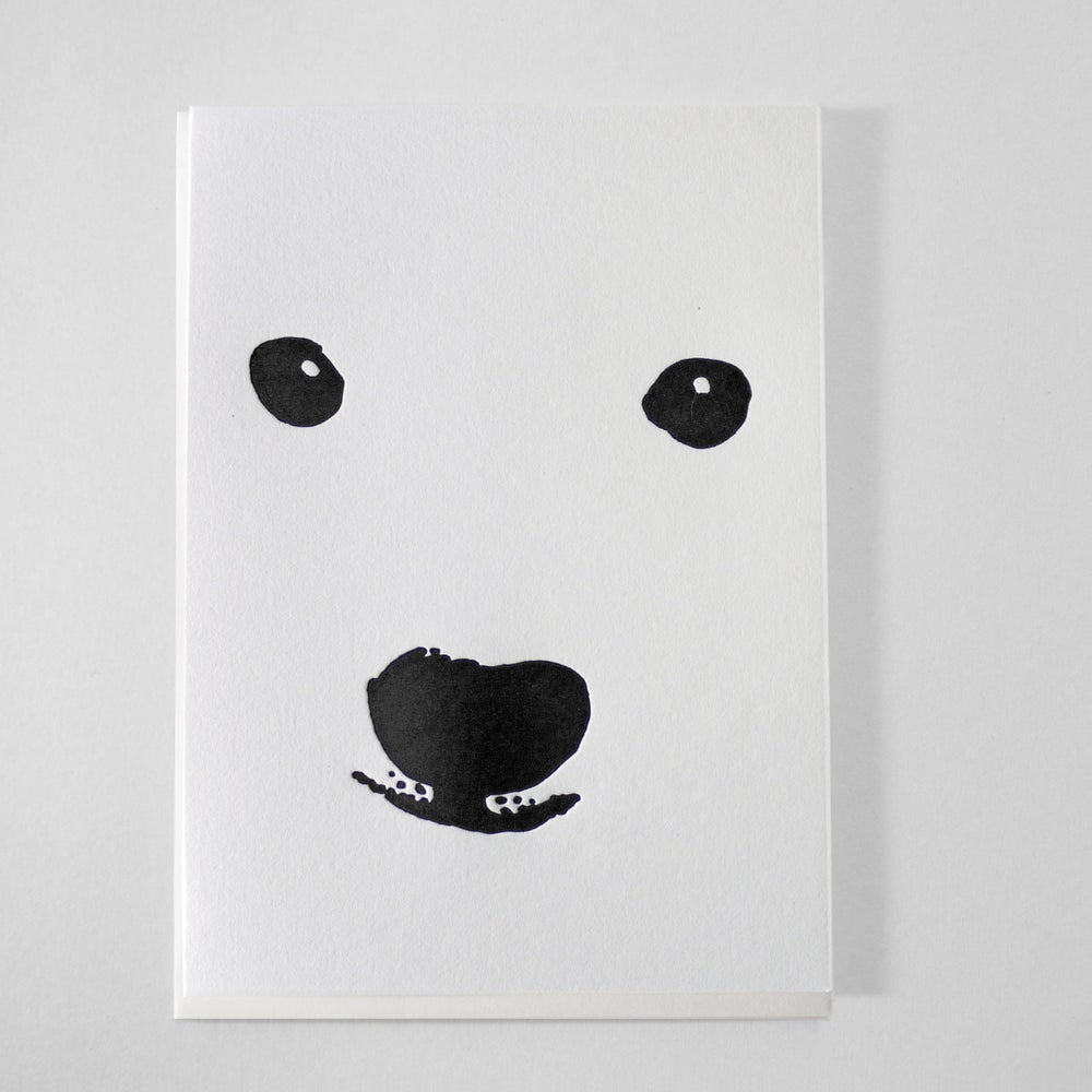 Image of POLAR BEAR - LETTERPRESS CARD