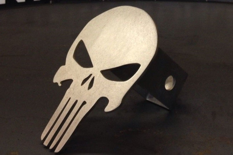 "Image of Punisher Skull Hitch Cover - 1/8"" Steel"