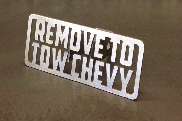 Image of Remove To Tow Chevy Hitch Cover