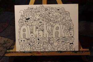 Image of Custom Name Doodle