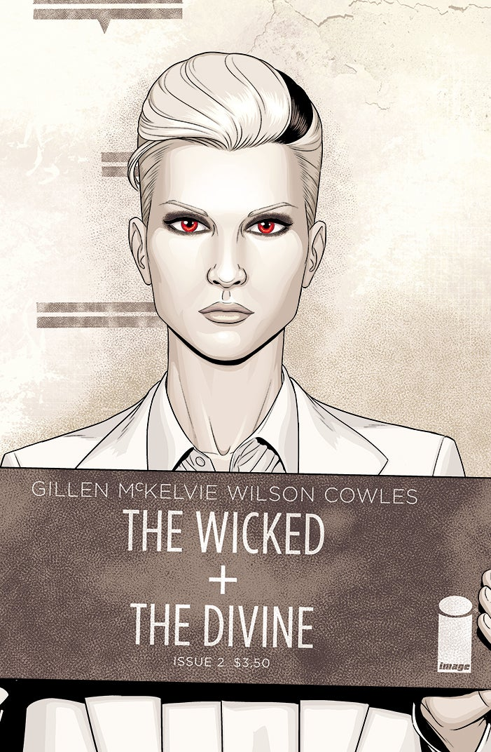 Image of Issue 2 Variant Cover - Lucifer mugshot