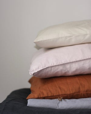 Image of Linen/floral pillowcase