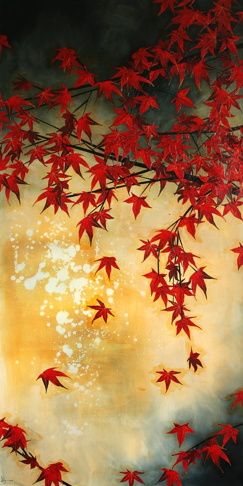 "Image of Lily Greenwood Giclée Print - Japanese Maple - 8""x 16"" (Open Edition)"