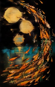 "Image of Lily Greenwood Giclée Print - Midnight Koi - 10""x 16"" (Open Edition)"