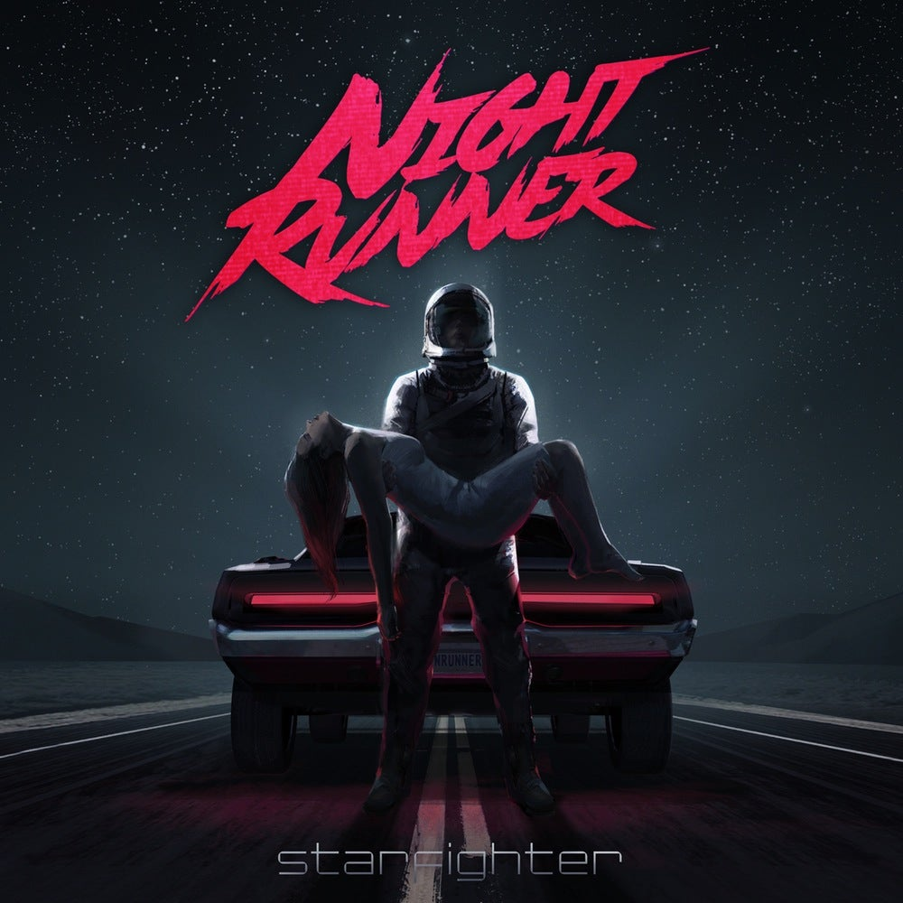 Image of Night Runner: Starfighter - Pink w/ black splatter 140 copies