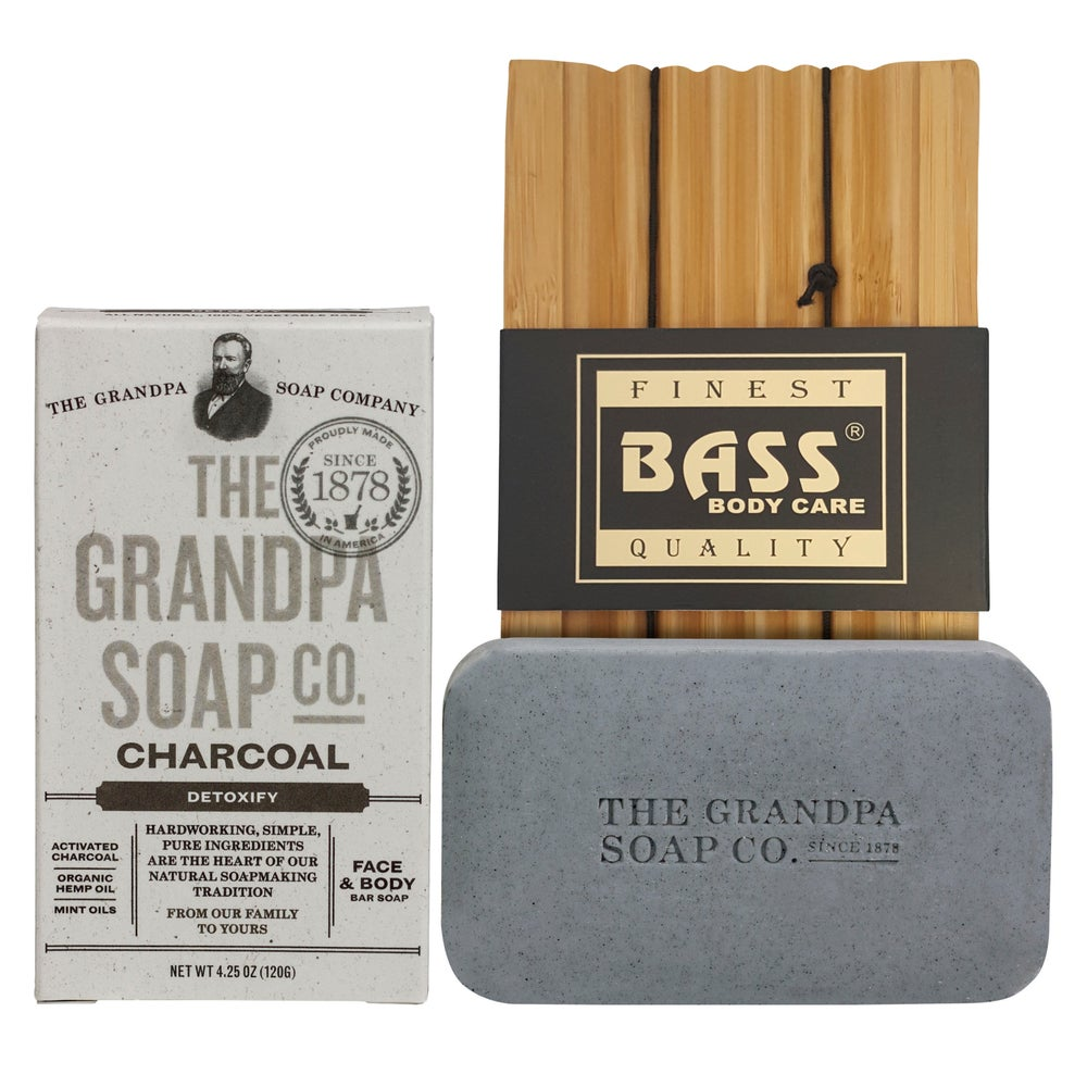 Image of Grandpa's Famous Soap with Bamboo Soap Dish