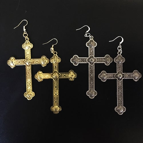 Image of The Royal Cross Earrings