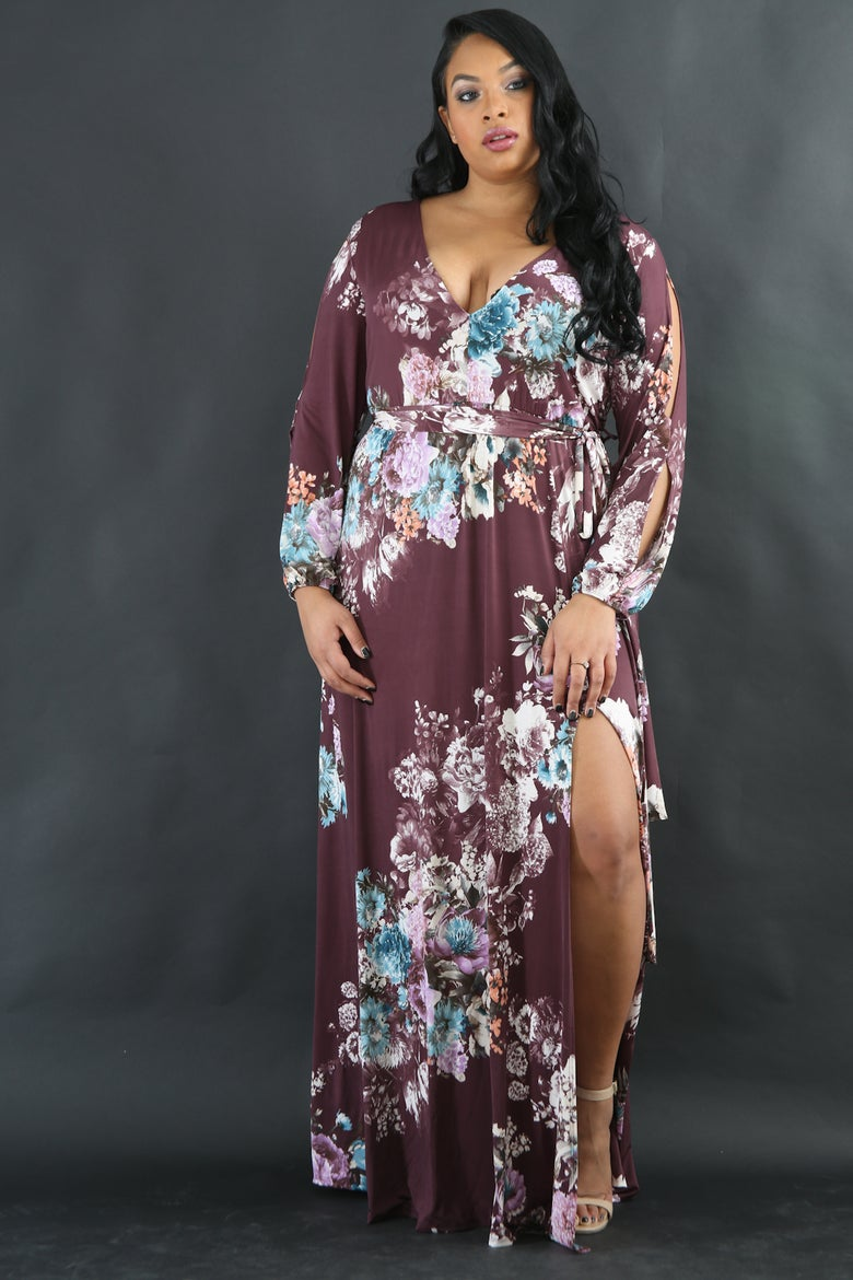Image of Fall Blooming Maxi Dress