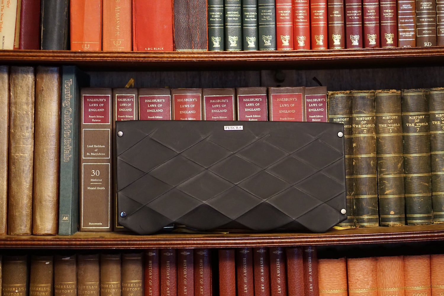Image of CLUTCH IN ECO LEATHER BLACK - SIZE L