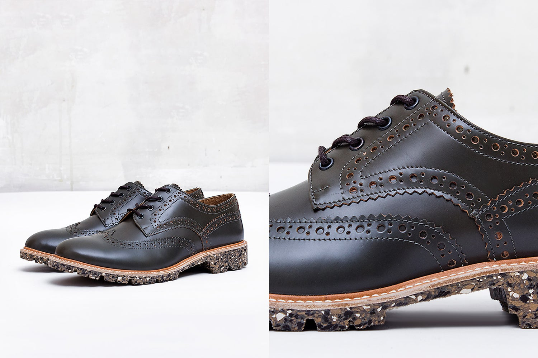 Image of Handmade Shoes | 702 Derby Wingtip Dark Olive Edition