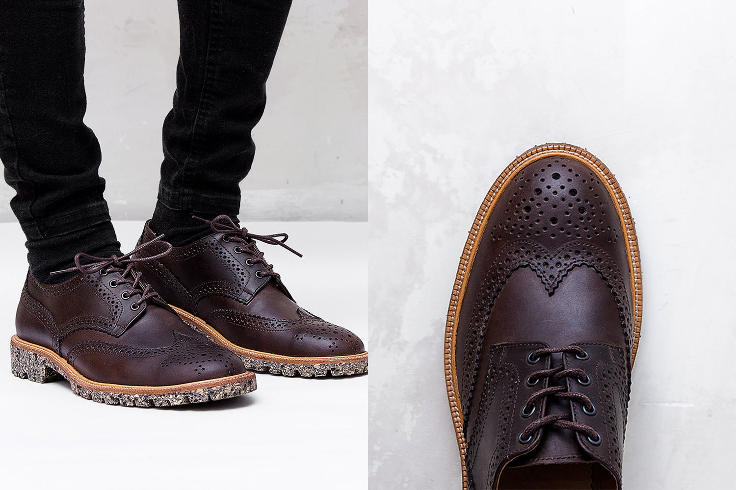 Image of Handmade Shoes | 702 Derby Wingtip Brown Edition