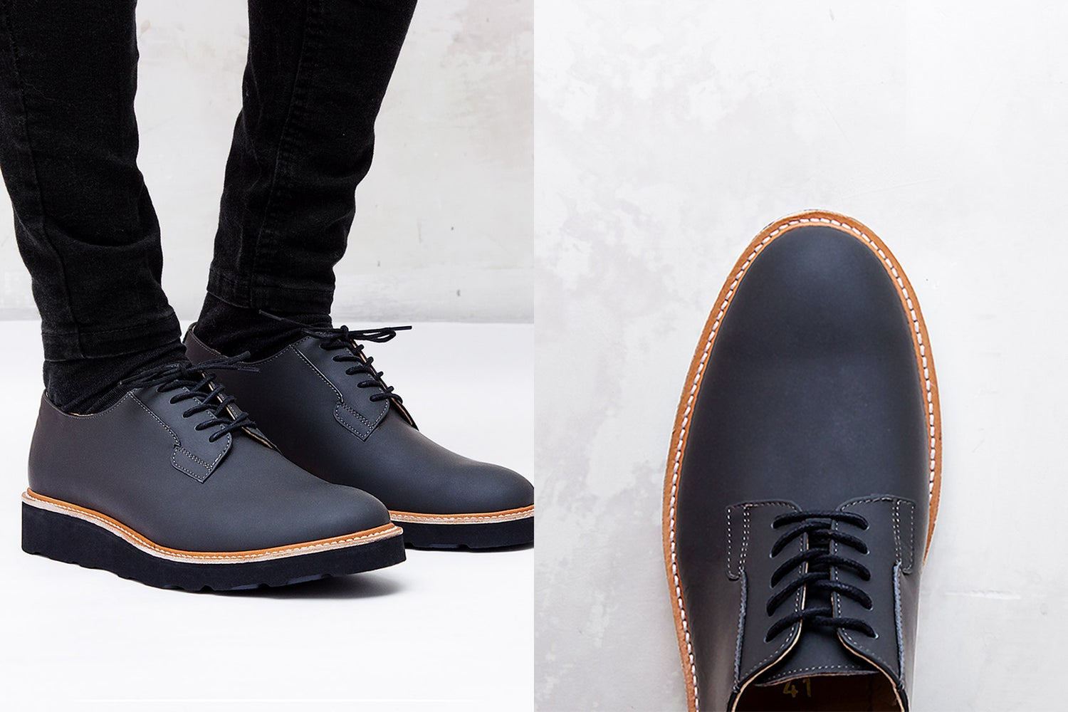 Image of Handmade Shoes | 101 Postman Dark Grey Edition