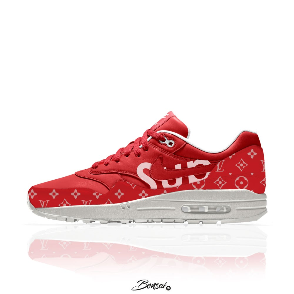 Image of Red/Offwhite Air Max 1