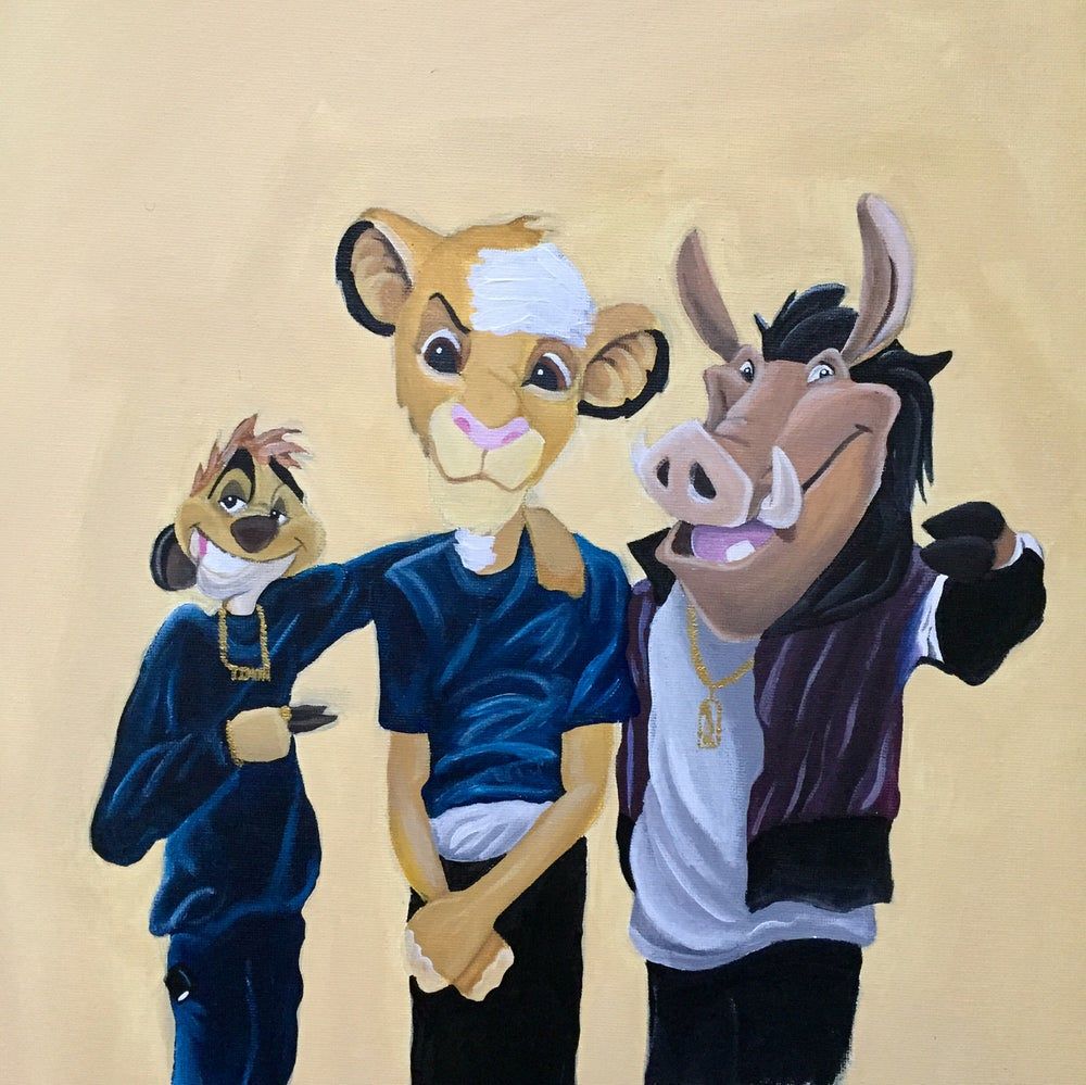 """Image of """"Classic Meets Classic: Paid In Full Meets Lion King"""""""